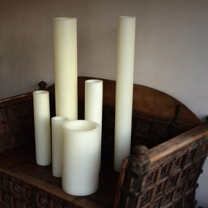 "Flameless LED Candles / Timer or Remote Control options (7"" diameter by 24"" or 28"" or 36"" or 42"" tall)(Bulk Discounts)"