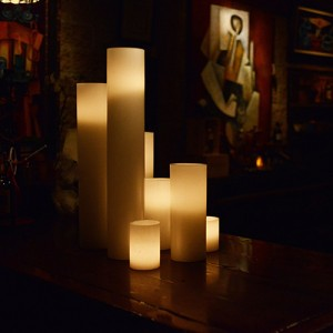 "Flameless LED Candles / Timer or Remote Control options (5.5"" diameter by 18"" or 24"" or 28"" Tall)(Quantity discount 12 or more, call)"