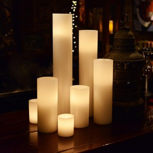 "Flameless LED Candles / Timer or Remote Control options (4"" diameter by 15"" or 18"" or 24"" Tall)(Quantity discount 28 or more, call)"