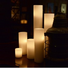 """Flameless LED Candles / Timer or Remote Control options (5.5"""" diameter by 10"""" or 12"""" or 15"""" Tall)(Bulk Discounts)"""