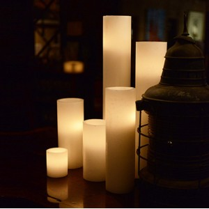 "Flameless LED Candles / Timer or Remote Control options (5.5"" diameter by 10"" or 12"" or 15"" Tall)(quantity discount 24 or more, call)"