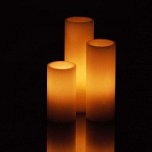 """Flameless LED Candles (2.5"""" diameter by 10"""",12"""",15"""" or 18"""" tall)"""