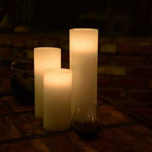 "Flameless LED Candles / Timer or Remote Control options (3"" diameter by 6"" or 7"" or 8.5"" Tall) as low as $7.11"