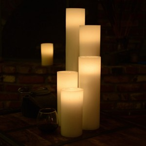 "Flameless LED Candles / Timer or Remote Control options (3"" diameter by 24"" or 28"" Tall)(Quantity discount 24 or more, call)"