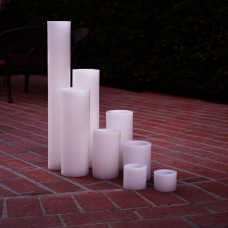 "Flameless LED Candles / Timer or Remote Control options (10"" diameter by 24"" or 28"" or 36"" or 42"" Tall) (Bulk Discounts)"