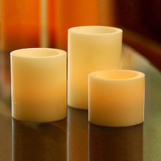 "Flameless LED Candles / Timer or Remote Control options (3"" diameter by 3"" or 4"" or 5.5"" Tall) (Bulk Discounts)"