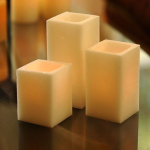 "Flameless LED Candles / Timer or Remote Control options (3"" wide by 6"" or 7"" or 8.5"" Tall) (Bulk Discounts)"