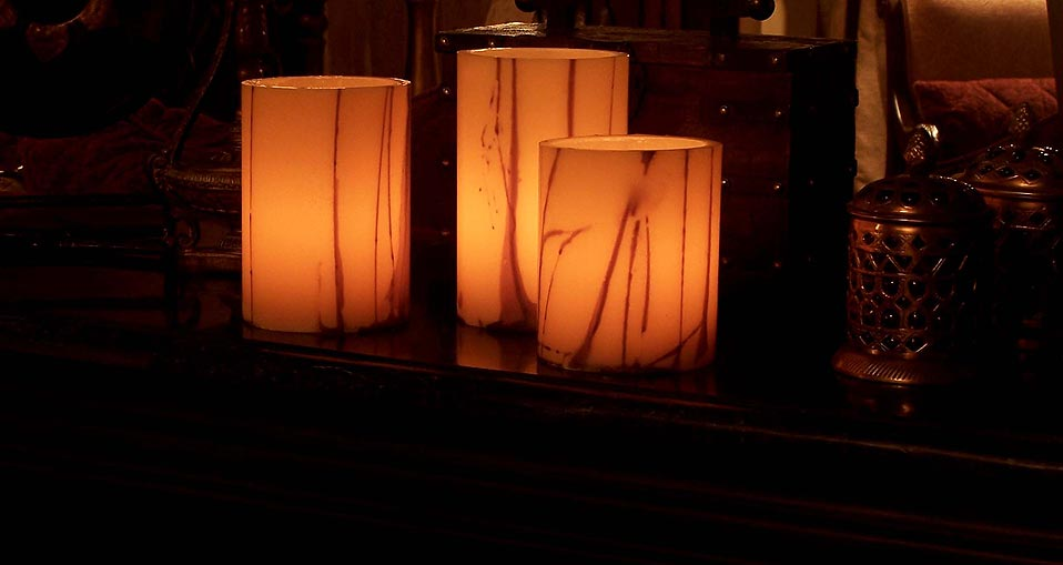 Wax Luminaries Oriental Design