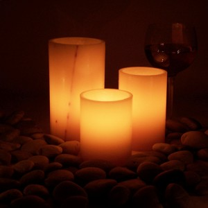 "Electric Hardwired Low Voltage LED Candles System  (6 to 11 set)(4"" Diameter Wax Luminaries Included)"