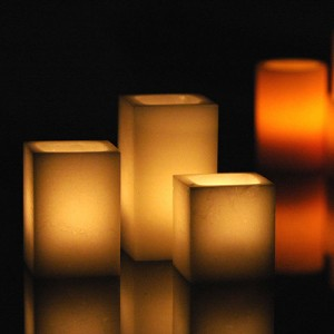 "Electric Hardwired Low Voltage LED Candles System  (6 to 11 set)(4"" Wide Wax Luminaries Included)"