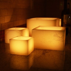 "Electric Hardwired Low Voltage LED Candles System  (6 to 11 set)(5.5"" Wide Wax Luminaries Included)"