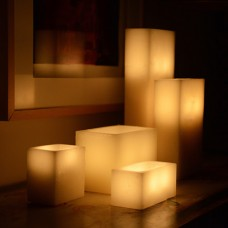 "Electric Hardwired Low Voltage LED 12 to 96 Candles System (5"" wide 8"" long Rectangle Wax Luminaries Included)"