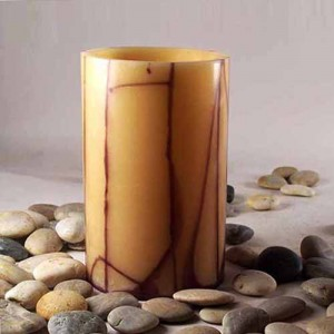 "Hollow Wax Luminaries Round With Oriental Line Design (4"" diameter by 4"", 5.5"", 7"" and/or 8.5"" tall)(Quantity discount 48 or more call)"