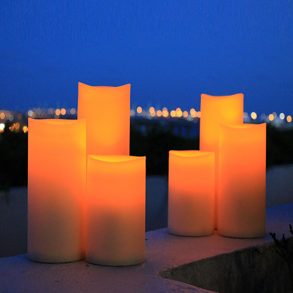 Timer Led Candle 3, Outdoor Flameless Candles With Remote
