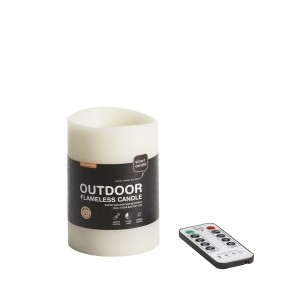 "Outdoor Waterproof Remote Controlled and Timer LED Candle  3"" x 5""   (4 pack)"