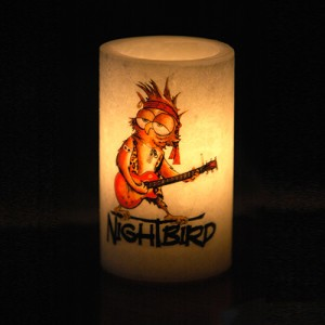 "Custom Personalized Hollow Round Candles (3"" Diameter) (Fuel Cells included)(Quantity discount 48 or more call)"