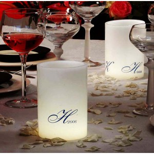 "Custom Personalized LED Round Flameless Candles / Timer or Remote Control options(3"" Diameter)(Quantity discount 48 or more call)"