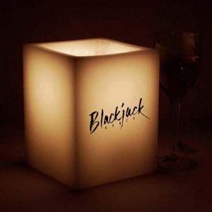 "Custom Personalized LED Flameless Square Candles / Timer or Remote Control options(4"" Wide)(Quantity discount 48 or more call)"