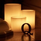 "Rechargeable Candle System, Commercial Grade Evolution LED 14500 Hours Lifespan (3"" Diameter Round Wax Luminaries Included)"