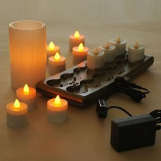 Rechargeable Candle System, Commercial Grade, 10500 Hours lifespan (12 to 48 pack) Fall Limited Time Special