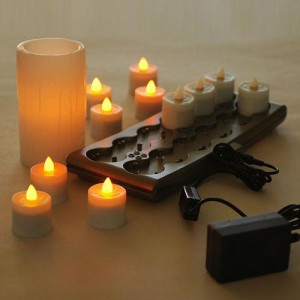 Rechargeable Candle System, Commercial Grade Smart Candle Platinum 10500 Hours lifespan (12 to 48 pack) OCTOBER SPECIAL
