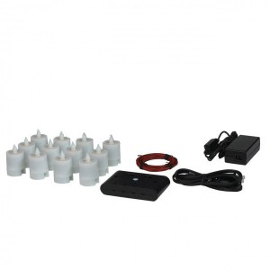 Electric Hardwired Low Voltage LED 12 to 96 Candles System (Wax Holders Not included)