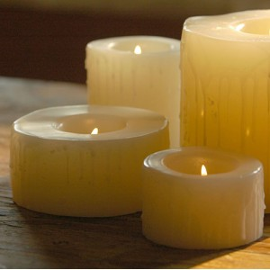 "Reusable Flame Top Candles (4"" Diameter by 4"", 5.5"", and/or 7"" tall)(quantity discount 48 or more call)"