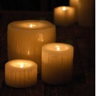 "Reusable Flame Top Candles (4"" Diameter by 3"", 4"" and/or 5.5"" tall)(quantity discount 48 or more call)"