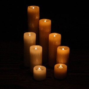 "Reusable Flame Top Candles (3"" Diameter by 3"", 4"", 5.5"" and/or  7"" tall)(quantity discount 48 or more call)"