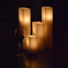 "Hollow Candles Wax Luminaries Rectangle (14"" by 3"" wide by 8"", 10"" and 14"" Tall)(Quantity discount 12 or more call)"