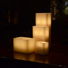 "Hollow Candles Wax Luminaries Rectangle (12"" by 6"" wide by 9"", 12"", 15"" and 18"" Tall)(Quantity discount 12 or more call)"