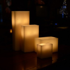 "Hollow Candles Wax Luminaries Rectangle (6"" by 3"" wide by  4"" and 6""Tall)(Quantity discount 48 or more call)"