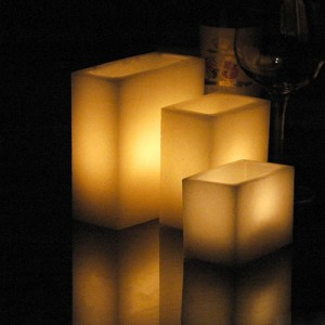 "Electric Hardwired Low Voltage LED 12 to 96 Candles System (2.5"" Wide by 5.5"" rectangle, Wax Luminaries Included)"