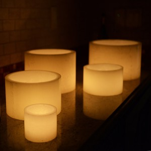 "Hollow Candles Wax Luminaries (7"" diameter by 4"", 5.5"", 8"", and/or 9.5"" Tall)(bulk Discounts)"