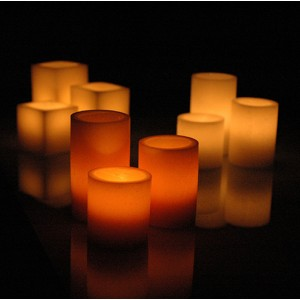 "Electric Hardwired Low Voltage LED Candles System  (6 to 11 set)(2.5"" or 3"" Diameter Wax Luminaries Included)"
