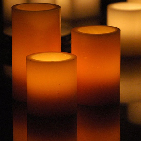 Hollow candles wax luminaries 2 5 diameter by 3 4 and for Reusable luminaries