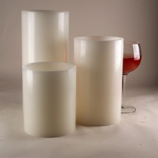 "Hollow Candles Wax Luminaries (4"" diameter by 8.5"", 10"" and/or 12"" Tall)(bulk Discounts)"