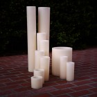 "Hollow Candles Wax Luminaries (7"" diameter by 24"", 28"", 36"" and 42"" tall)(bulk Discounts)"