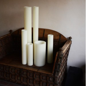 "Hollow Candles Wax Luminaries (4"" diameter by 28 or 36"" Tall)(bulk Discounts)"