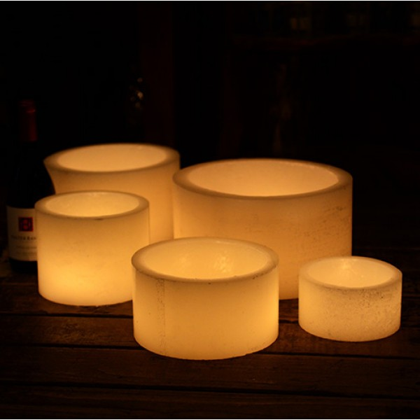 Hollow candles wax luminaries 12 diameter by 6 12 or for Reusable luminaries