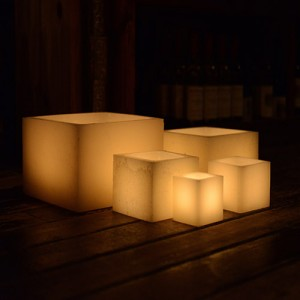 "Hollow Candles Wax Luminaries (5.5"" wide by 4.5"", 7"" and/or 8.5"" Tall)(quantity discount 24 or more call)"