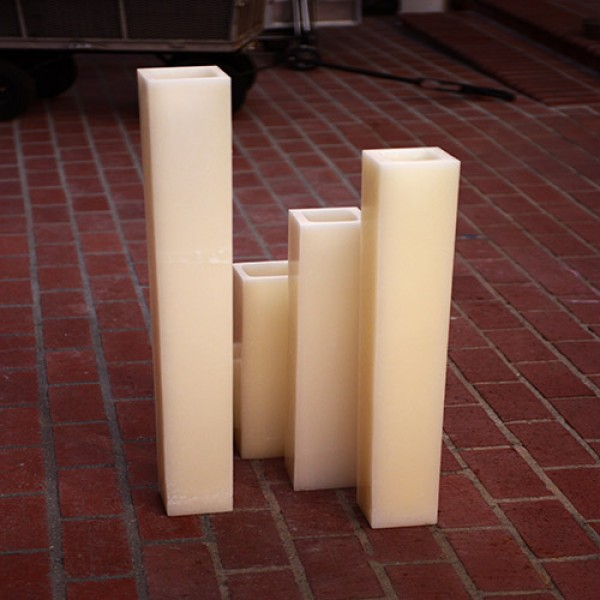 Hollow candles wax luminaries 5 5 wide by 34 or 36 for Reusable luminaries