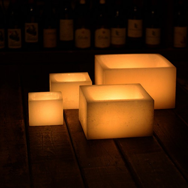 Hollow candles wax luminaries 12 wide by 6 12 or 18 for Reusable luminaries