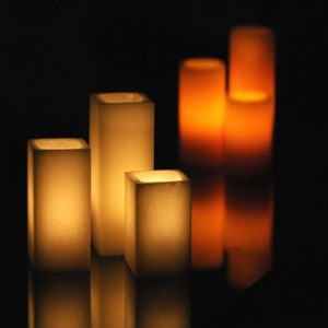 "Hollow Candles Wax Luminaries (4"" wide by 8.5"", 10"" and/or 12"" Tall)(quantity discount 48 or more call)"