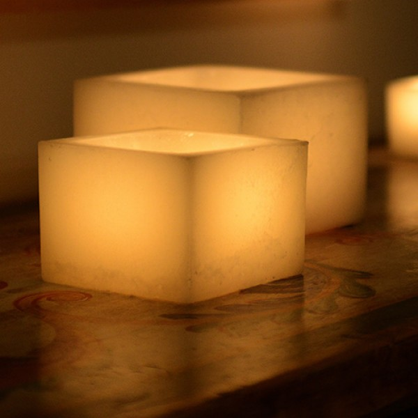 Hollow candles wax luminaries 3 wide by 3 4 and or 5 for Reusable luminaries