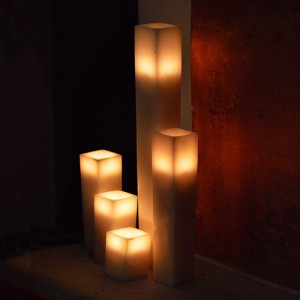 "Hollow Candles Wax Luminaries (2.5"" wide by 10"" and/or 12"" tall)(quantity discount 48 or more call)"