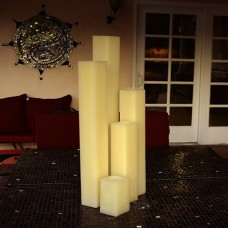 "Hollow Candles Wax Luminaries (7"" wide by 24"",28"", 36"" and 42"" tall)(quantity discount 6 or more call)"