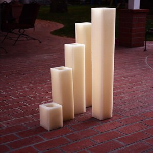 "Hollow Candles Wax Luminaries (5.5"" wide by 18"", 24"" and/or 28"" Tall)(quantity discount 12 or more call)"