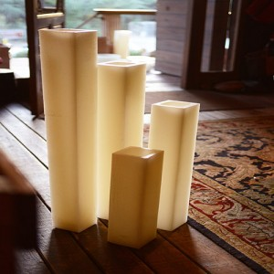 "Hollow Candles Wax Luminaries (5.5"" wide by 10"", 12"" and/or 15"" Tall)(quantity discount 24 or more call)"