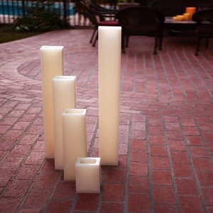 "Flameless LED Candles / Timer or Remote Control options (4"" wide by 15"" or 18"" or 24"" Tall) (Quantity discount 24 or more call)"